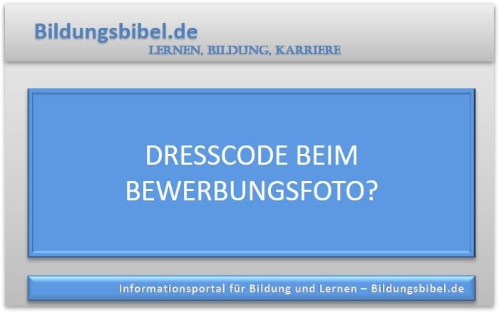 Dresscode beim Bewerbungsfoto?