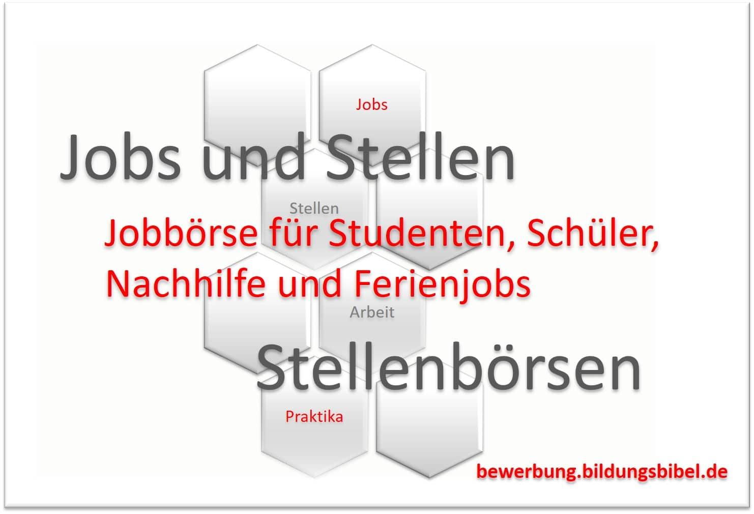 Jobbörse für Studenten und Schüler, Jobs finden, Praktika, Ferienjob und Nachhilfe, Stellenbörsen im Internet für Schüler- und Studentenjobs.